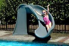 The SR Smith Cyclone Water Flume Slide is a child size swimming pool built to absolute safety standards for a fun, comfortable ride.