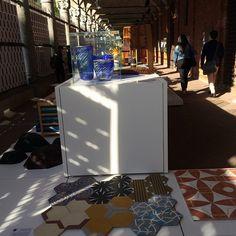 """On time, ladrilhos """"rua da carioca"""" na exposição BrazilS/A ..... Um privilégio desenvolver produtos e expô-los no maior centro de referência em design do mundo. #milan #milao #milano #milan2015 #brazilianstyle #tiles #cementtiles #ruadacarioca #artesanalfloor  @casaejardim #milãoemcasaejardim"""
