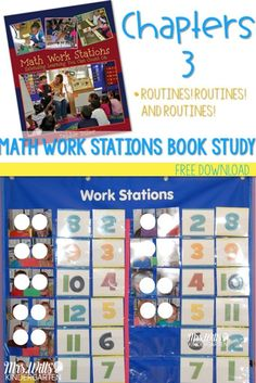 Find ideas for creating routines for your math work station time. Anchor charts to help set expectations for kindergarten math center time. Kindergarten Center Rotation, Kindergarten Centers, Kindergarten Writing, Teaching Math, Math Centers, Teaching Ideas, Kindergarten Curriculum, Math Stations, Work Stations