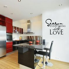 Kitchen Vinyl - Season Everything with Love - Vinyl Wall Art - Kitchen Decor.  See this  and more at angellauna.etsy.com