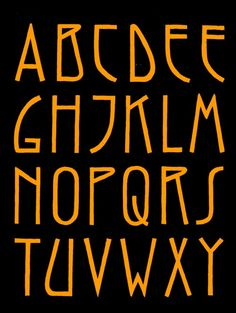 Alafabet based on the leters on the wall of Het Amsterdams Lyceum. Hand Lettering Alphabet, Typography Letters, Graphic Design Typography, Creative Lettering, Lettering Styles, Handwritten Fonts, Calligraphy Fonts, Word Art, Writing Fonts