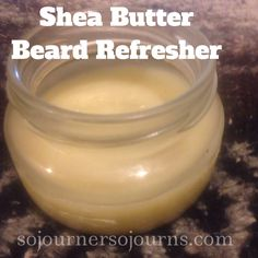 Shea Butter Beard Refresher Smells so good! Just rubbed this on my hubby's beard!