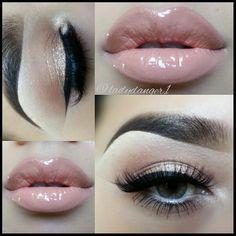 Shimmery subtle eye makeup