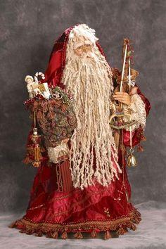 Love the long yarn beard on this Santa. Father Christmas, Santa Christmas, Christmas Images, All Things Christmas, Vintage Christmas, Christmas Crafts, Christmas Decorations, Christmas Trees, Xmas