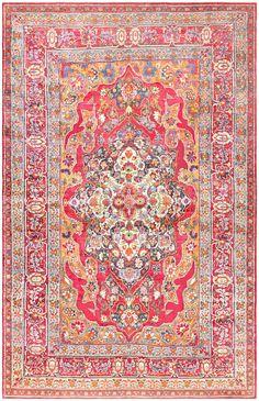 Antique Silk Kerman Persian Rug 47150 Detail/Large View - By Nazmiyal  http://nazmiyalantiquerugs.com/antique-rugs/silk/antique-silk-kerman-persian-rug-47150/