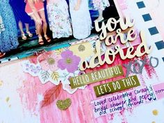 SCRAP YOUR HEART OUT HOP ~ Grab 5 ~ Scrapbooking Process Video 'You Are Adored' + + + INKIE QUILL - YouTube