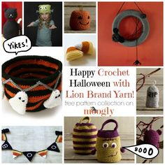 Fun Free Halloween Crochet Patterns from Lion Brand Yarn! Check out Moogly's favorites!