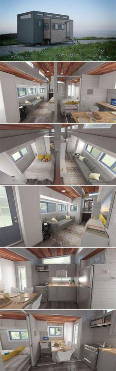 Casa construída em carroceria com divisória e ótimo design