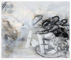 Suzanne McClelland Therefore 3+3=2 2013 Charcoal, gesso, pigment, polymer on linen