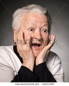 Find Portrait Surprised Old Woman On Gray stock images in HD and millions of other royalty-free stock photos, illustrations and vectors in the Shutterstock collection. Dankest Memes, Funny Memes, Hilarious, Grandma Memes, What Are Stock Photos, Reaction Pictures, Funny Pictures, Stock Imagery, Poses
