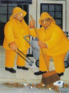 Beryl Cook ..#yellow...