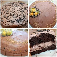 Nydelig, saftig enkel å lage sjokoladekake | Spiselise Marshmallow Fondant, Recipe Boards, Something Sweet, Food Inspiration, Baked Goods, Chocolate Cake, Cravings, Cake Recipes, Bacon