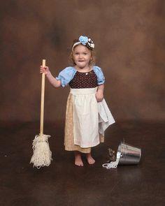 Cinderellas Cleaning Dress Princess dress up Costume Birthday Dresses, play dress little girls size 2, 3, 4 on Etsy, $35.00