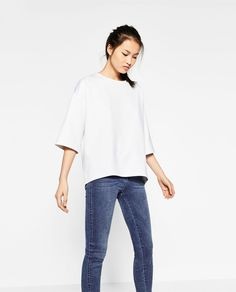 テクニカルファブリックTシャツ-長袖-Tシャツ-レディ-ス   ZARA 日本