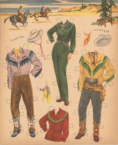 VINTAGE UNCUT 1940S ROY ROGERS EVANS PAPER DOLLS ~WHITMAN~ORG SZ~LASER REPRODUCT | eBay