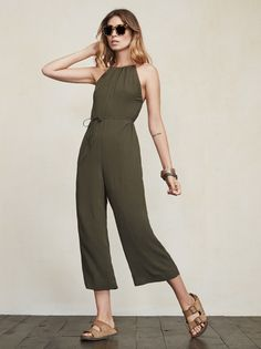 Sometimes making a full outfit is hard. We get it. The Mitra Jumpsuit will be there for you in these times of need. Just throw it on and you are ready for anything. https://www.thereformation.com/products/mitra-jumpsuit-army?utm_source=pinterest&utm_medium=organic&utm_campaign=PinterestOwnedPins