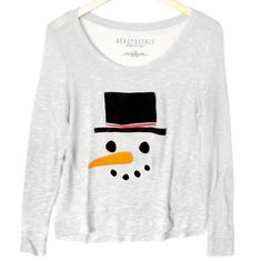 Snowman Face Thin Semi-Sheer Hi-Lo Ugly Christmas Sweater