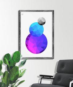 """Abstrackt Circles""/ Grafika z kolorowymi bryłami 3D"