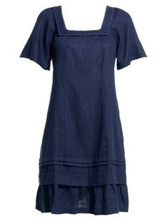 Linen Dress. Scale down the sleeves.