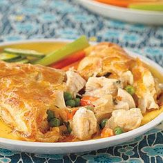 Savory chicken and veggies are sandwiched between crispy sheets of puff pastry to make Chicken Potpie Pockets. These flavorful potpie pockets are great for kids and adults alike, and are sure to become a family favorite in no time.