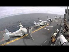 Cool timelapse from the flight deck of the USS Bonhomme Richard. Ospreys! Roll out!