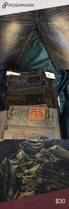 Bill Bitton Buffalo jeans Men's jeans size 32-40 fits women nicely as well. Inseem from 30-34 Jeans Bootcut