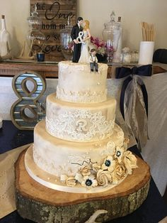Burnt edges give the gum paste flowers and antique look.  The cake was dusted to look like tea dyed fabric with lace tiers. Create A Cake, Gum Paste Flowers, Party Cakes, Burns, Tea, Antique, Lace, Fabric, How To Make