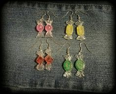 Check out this item in my Etsy shop https://www.etsy.com/listing/483779105/wrapped-candy-dangle-earrings-christmas