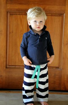 Easy pants sewing tutorial. Adorable!