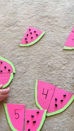 Preschool Number Crafts, Preschool Math Activities, Math Crafts, Creative Activities For Kids, Counting Activities, Preschool Learning Activities, Toddler Activities, Summer Crafts For Preschoolers, Hand Crafts For Kids