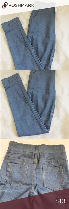 SKINNY HIGH WAIST JEGGINGS!! Stretch, High Waist, Jeggings, Brand New, size 24 can fit 25 coz of Stretch, string. Not brandy melville but similar style Brandy Melville Jeans Skinny