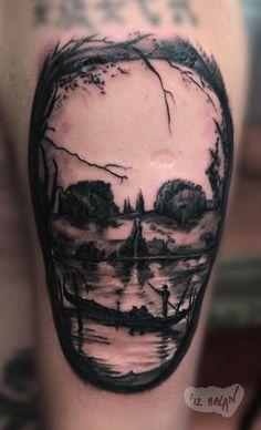 Skin City Tattoo Dublin. Insane skull/nature tattoo