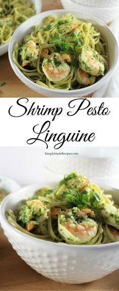 Shrimp Pesto Linguine