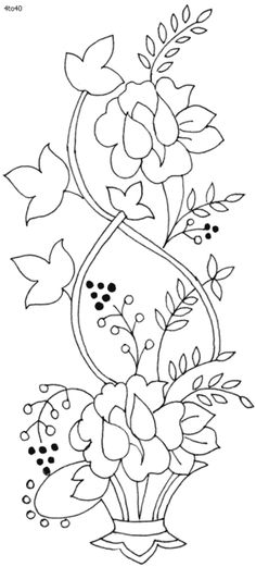 riscos bordado floral - Pesquisa Google