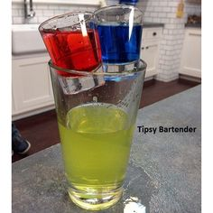 Enter The Matrix! Do you choose the Red or Blue pill? With this bomb type of shot, you can have both! For the recipe, visit us here: http://www.tipsybartender.com/blog/2015/8/19/enter-the-matrix