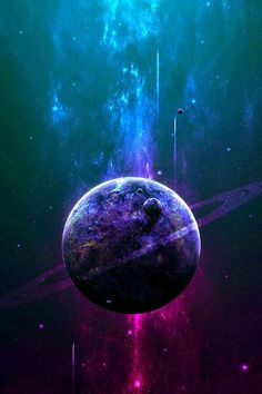 astronomy outer space space universe stars nebulas planets asteroids as Space Planets, Space And Astronomy, Galaxy Planets, Galaxy Space, Galaxy Art, Art Galaxie, Cosmos, Planet Painting, Digital Foto