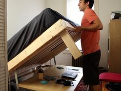 Build your own transformer bed that turns into a desk