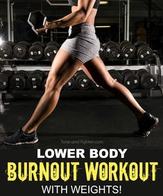 Grab your weights and get excited for the best way to get in a killer leg workout without a lot of time and very little equipment. All you need are two dumbbells for a phenomenal leg day!
