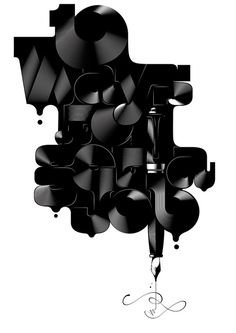 Complex term, out of the hybridization between typography and illustration. Typography by Alex Trochut, via Behance