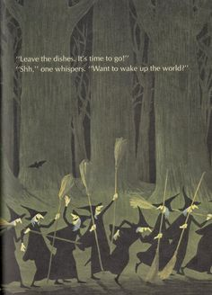 """Mixed-Up Monster Club: Vintage Children's Halloween Book """"A Woggle of Witches"""" by Adrienne Adams (1971)"""