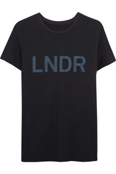LNDR - Printed Jersey T-shirt - Navy - x small