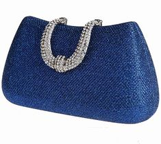 VOCHIC Glamour Rhinestone Hard Case Evening Wedding Party Clutch Purse Wallet.
