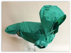 The Dachshund Shop - 'Mac in a Bag' Rain Coat - Green Rain Mac