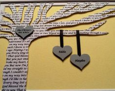 Framed Song Lyrics 3D Wedding Gift For Couple By CeladonHome