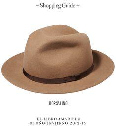 Hombre - Sombrero - Borsalino - El Palacio de Hierro - El Libro Amarillo Otoño/Invierno 12/13