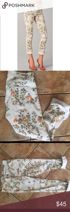 Citizens of Humanity Mandy Floral Roll Up Jeans Citizens of humanity Mandy Floral roll up high waist retro slim roll up jean size 26 Citizens of Humanity Jeans Skinny