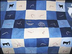 Cool livestock quilts.