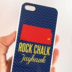 Rock Chalk Jayhawk Kansas Jayhawks Football Basketball iphone case by Cicada