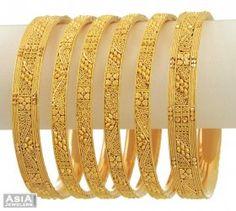 Indian Gold Bangles Collection-Beautifull Gold Bangles set ...