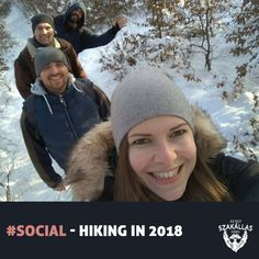 Hiking is the preferred term, in Canada and the United States, for a long, vigorous walk, usually on trails (footpaths), in the countryside, while the word walking is used for shorter, particularly urban walks.  #social #event #socialevent #socialevents #instahun #ikozosseg #mik #ig_hun #iközösség #Dobogókő #Pilis #hó #snow #hiking #túra